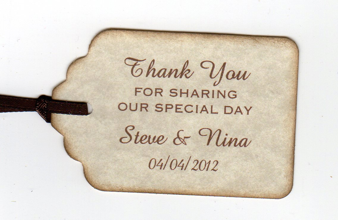 50 Thank You Tags Gift Tags Wedding Favor Tags Shower Favor Tags ...