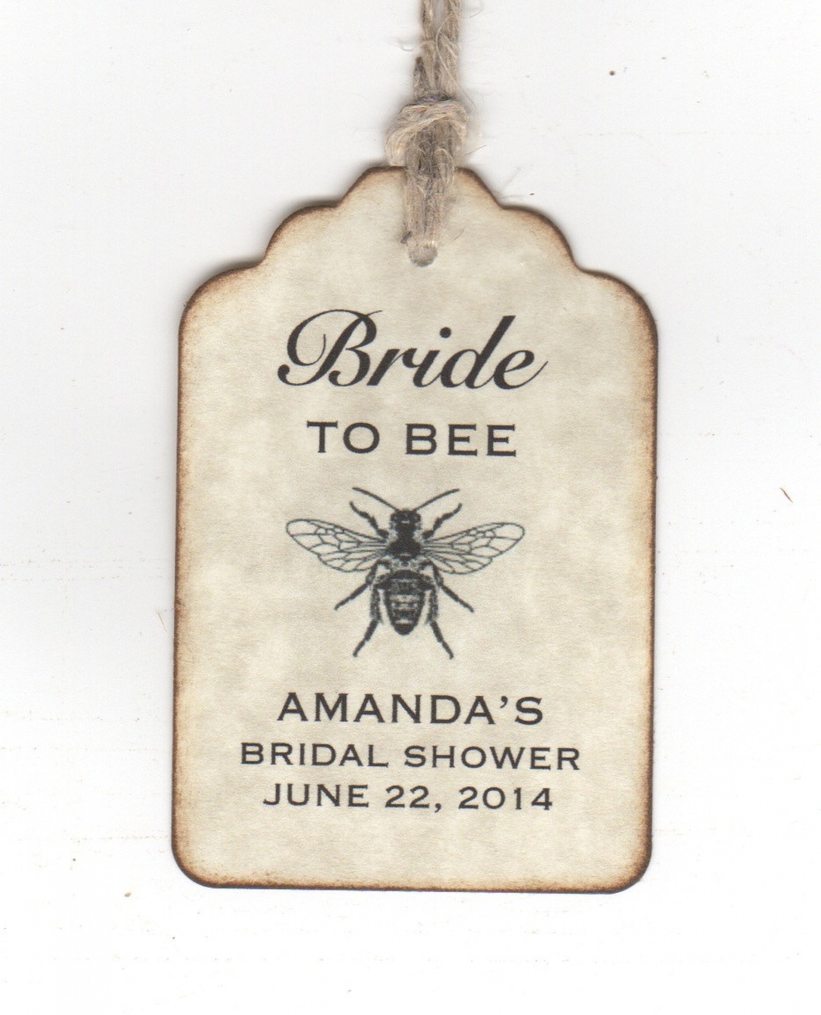 50 bride to bee wedding bridal shower favor gift tags honey jar label tags personalized vintage style