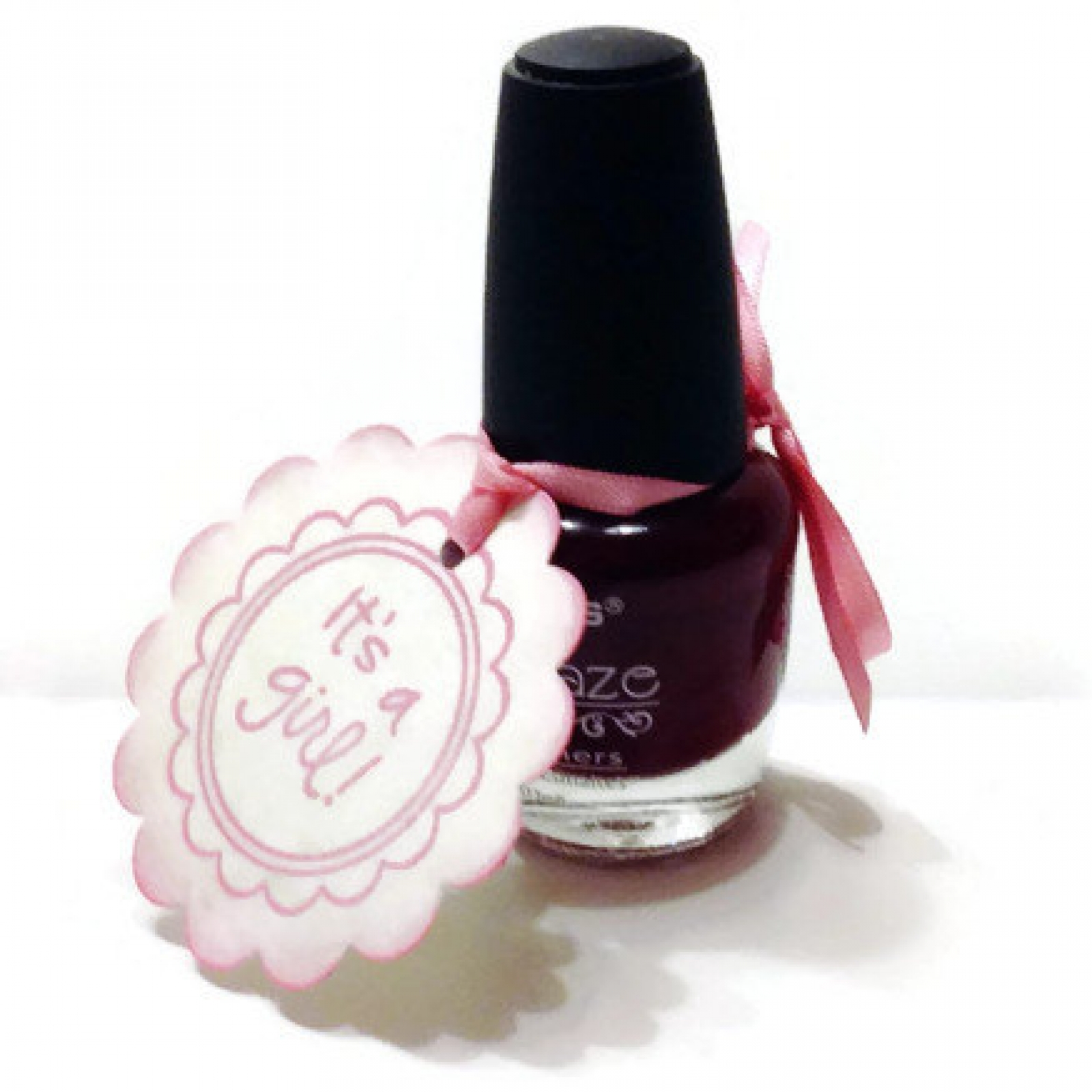 20 Baby Shower Nail Polish Favor Tags Its A Girl Baby Tags Baby