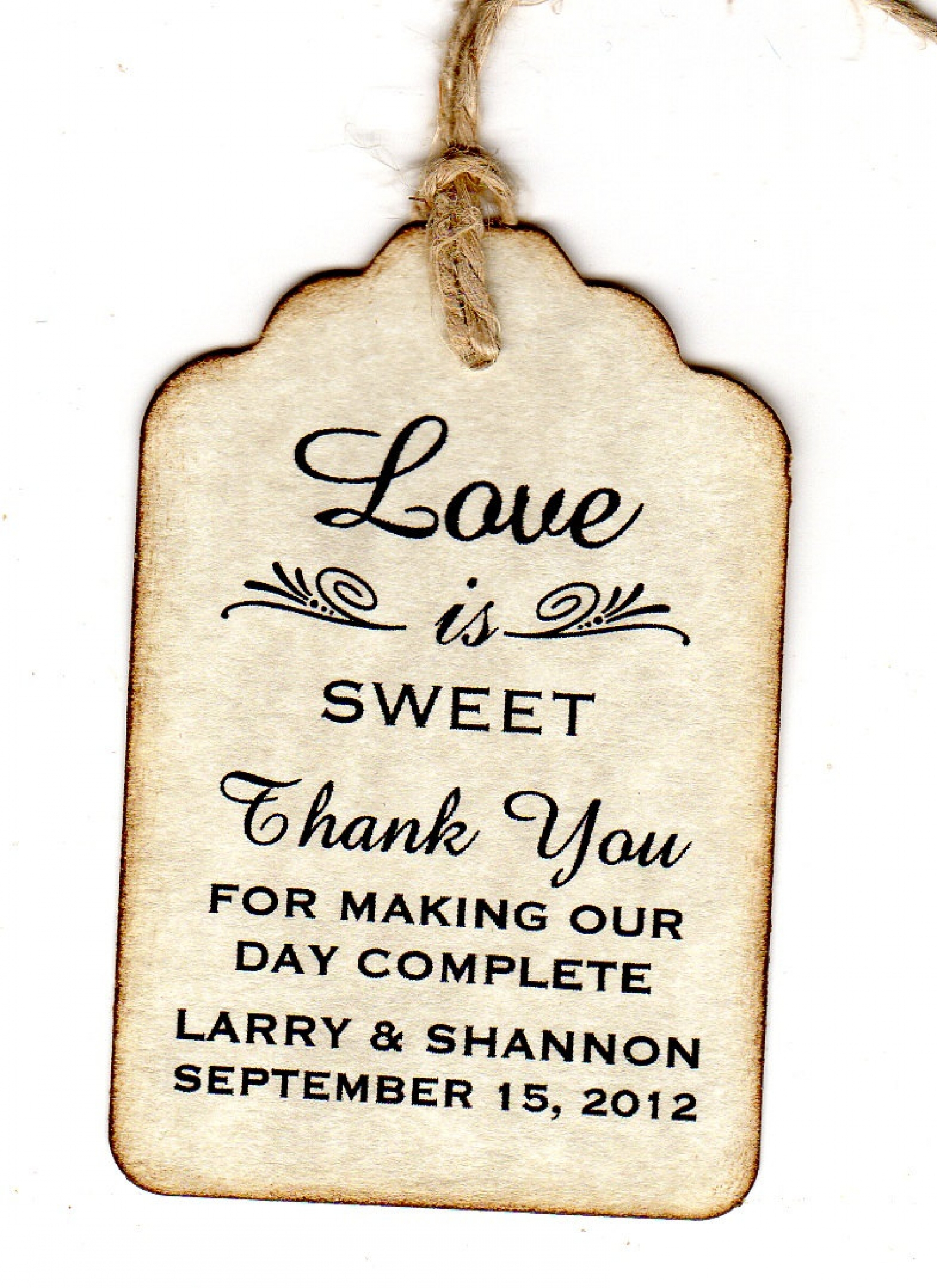 100 Wedding Favor Gift Tags / Place Cards / Escort Tags / Thank You ...