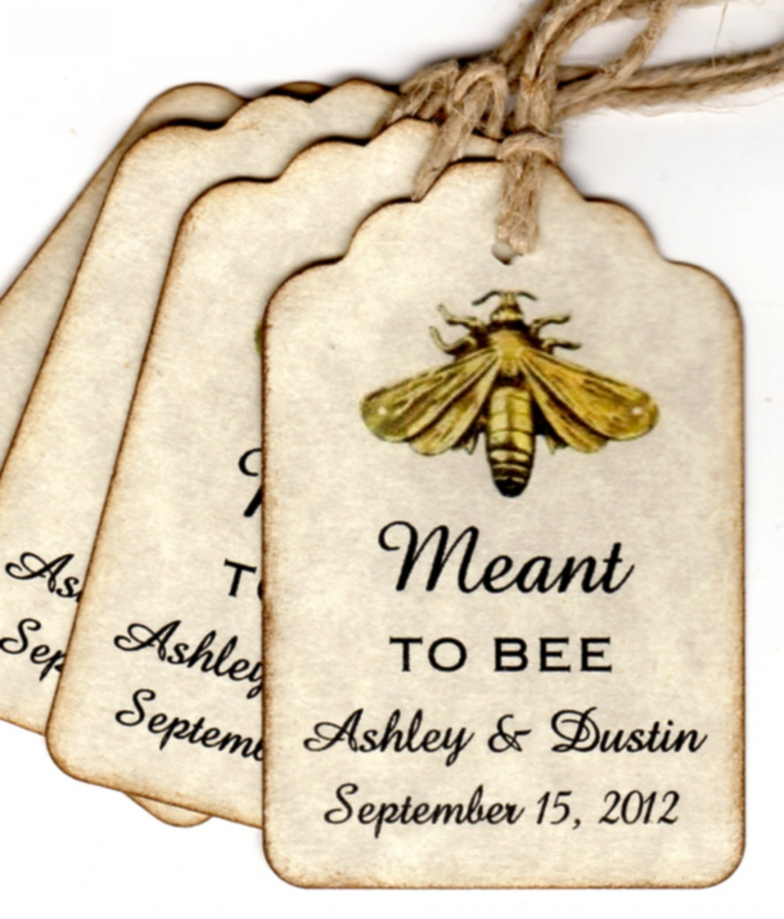 50 vintage meant to bee wedding favor gift tags wedding wish tags personalized escort tags place cards honey jar labels labels
