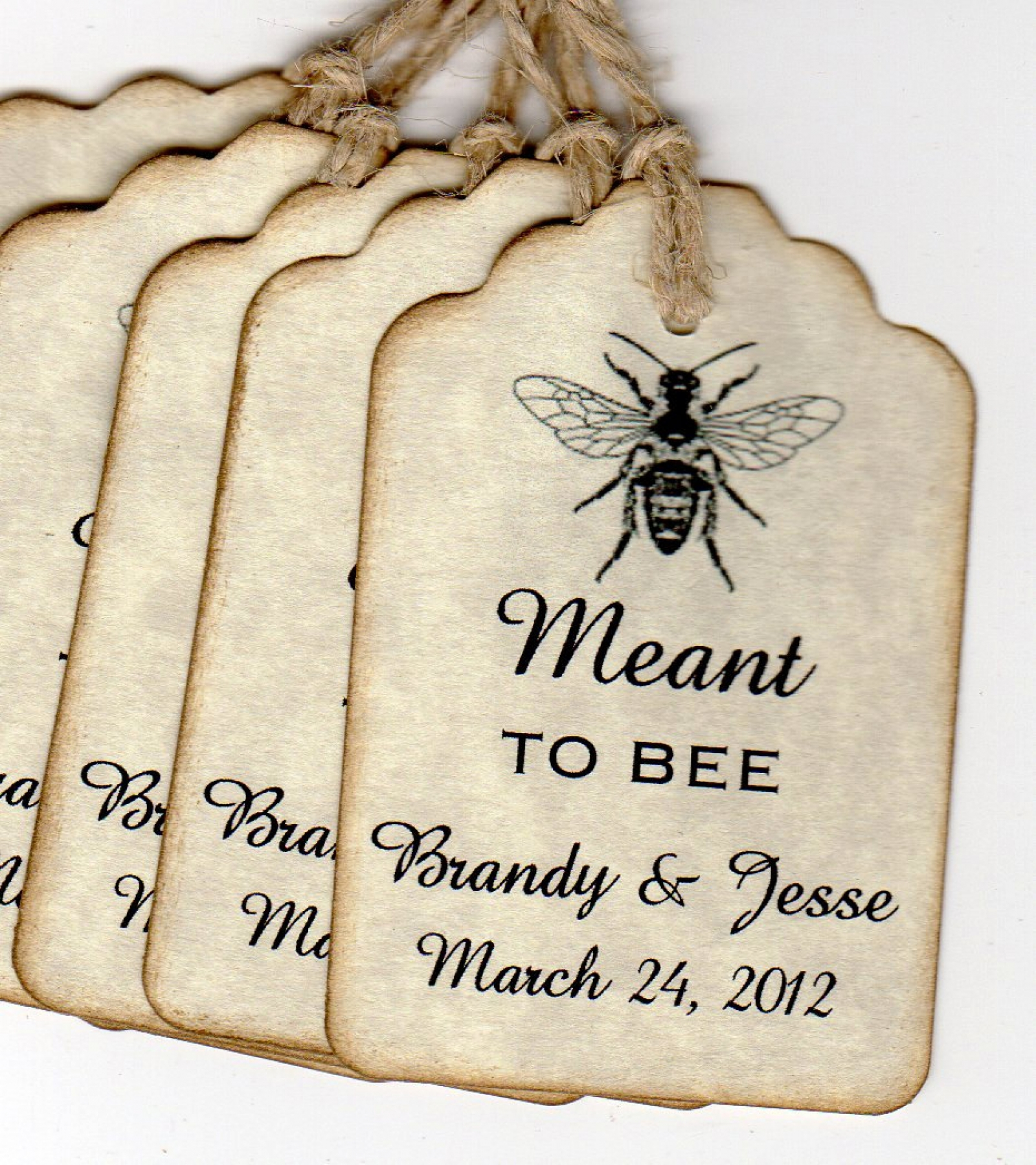 50 Vintage Wedding Favor Tags Wedding Gift Tags Wedding Wish Tags ...
