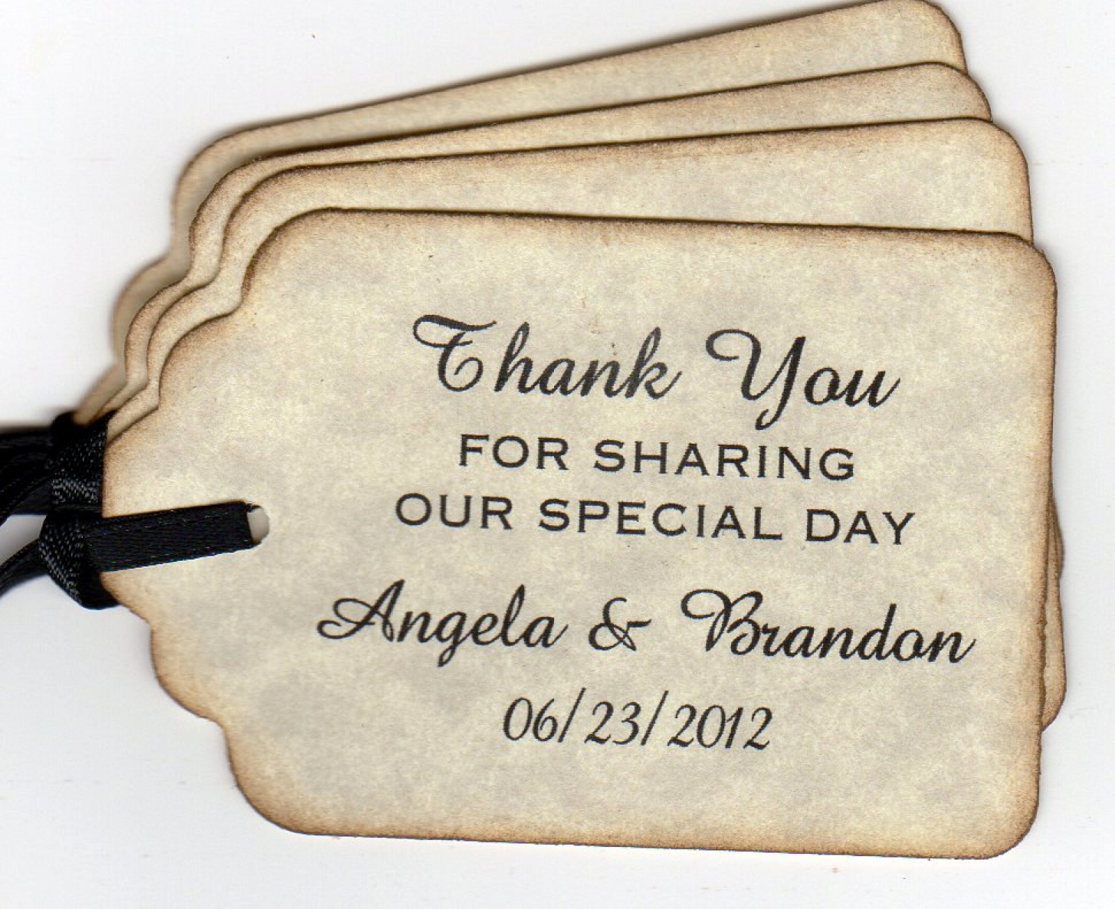 50 Personalized Wedding Favor Tags Tags / Gift Tags / Shower Favor ...