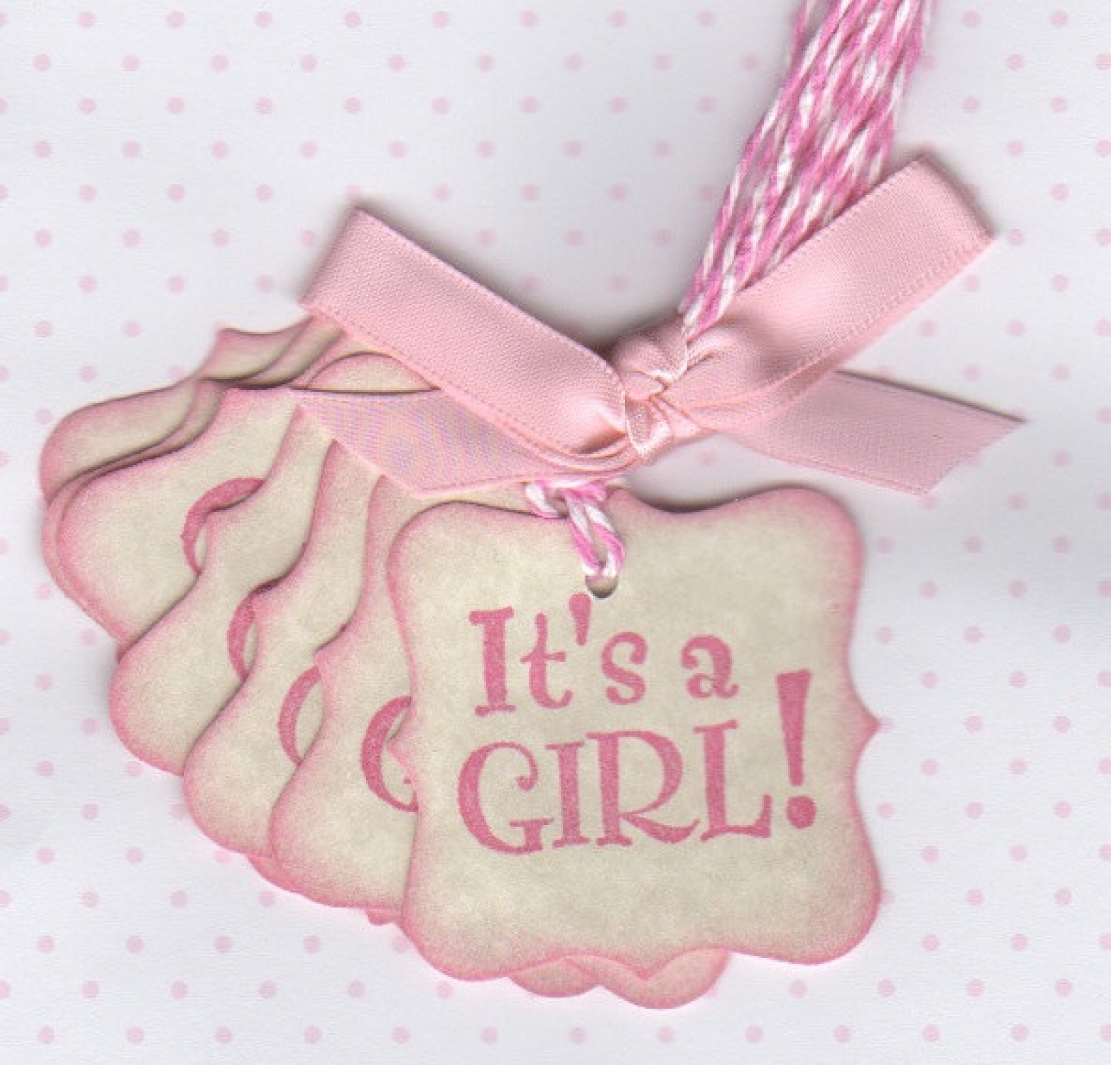 Girl Baby Tags / It\'s A Girl Shower Favor Tags / Nail Polish Favor ...