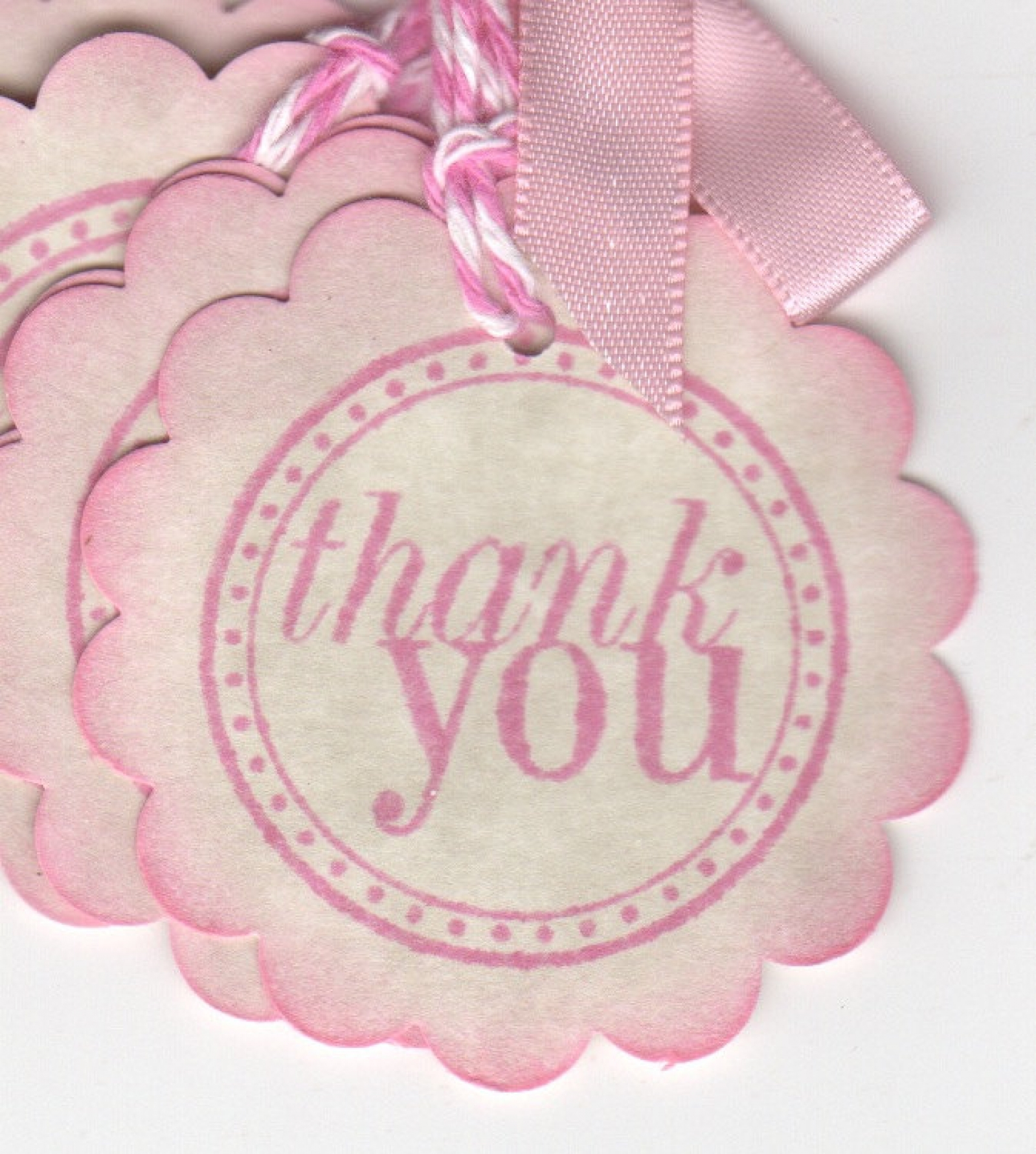 20 Pink Baby Shower Thank You Tags / Gift Tags / Nail Polish Favor ...