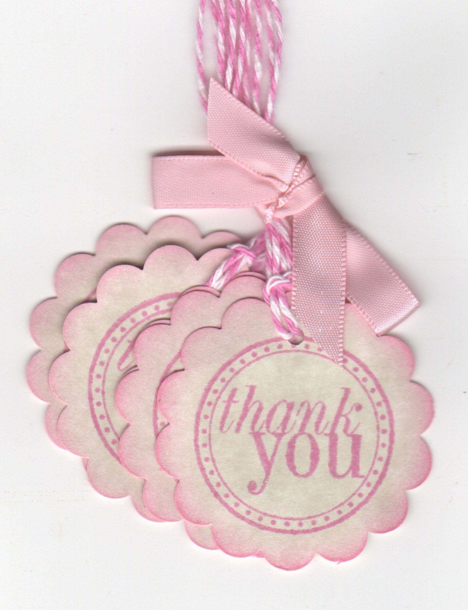 20 Pink Baby Shower Thank You Tags Gift Tags Nail Polish Favor