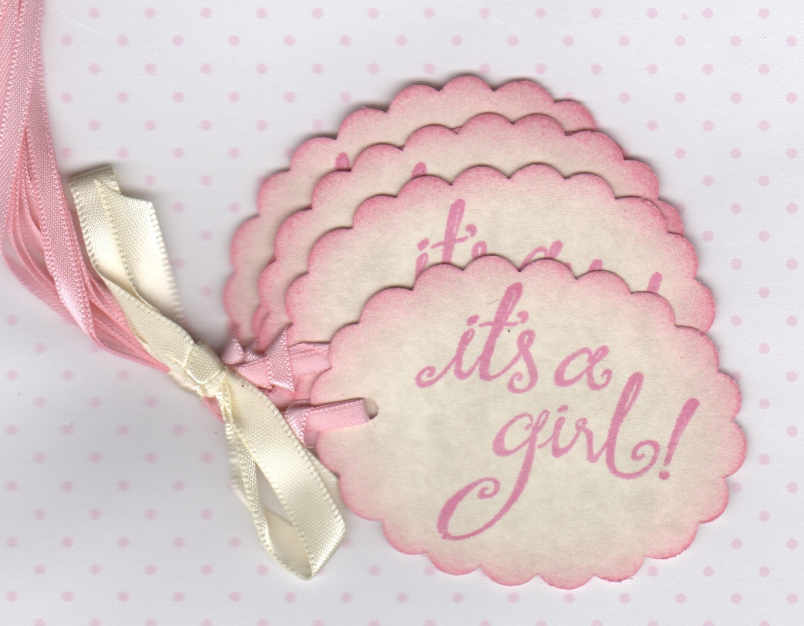 Its A Girl Baby Shower Tags, It\'s A Girl Baby Wish Tags - Hand Made ...