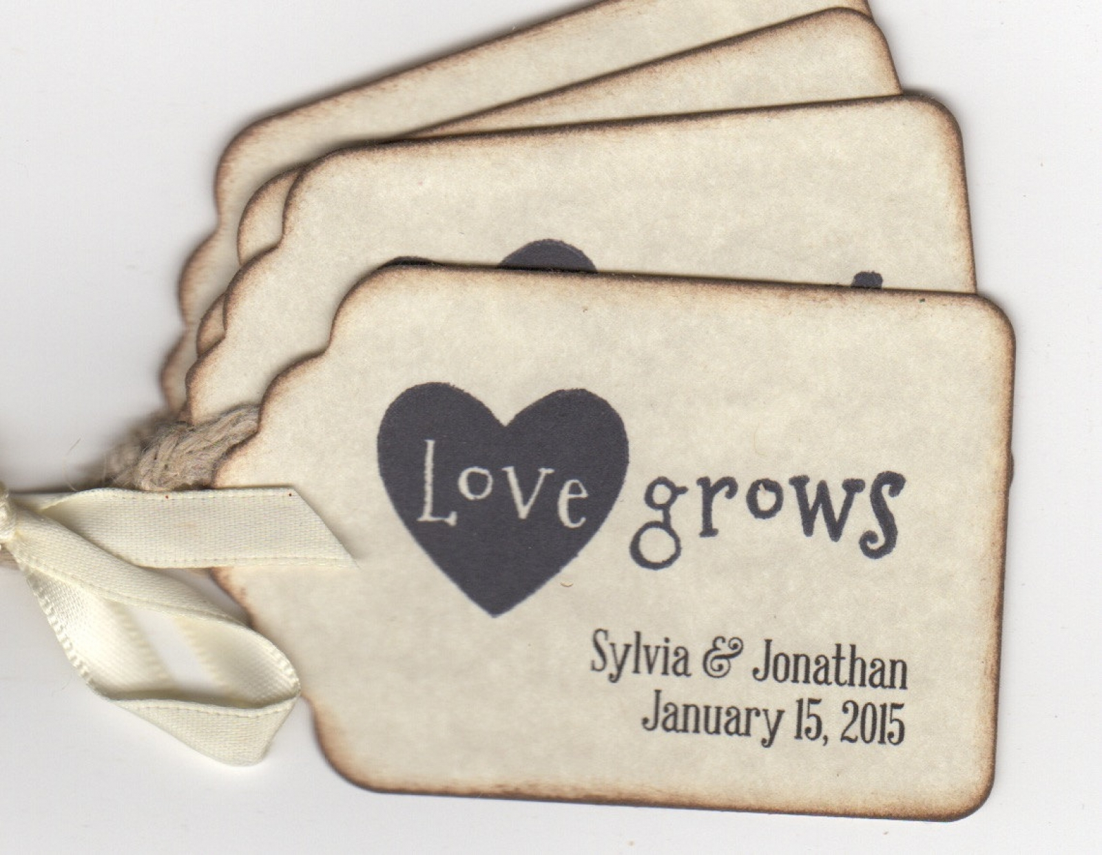 Love Grows Thank You Gift Tags, Wedding Favor Tags, Shower Favor ...