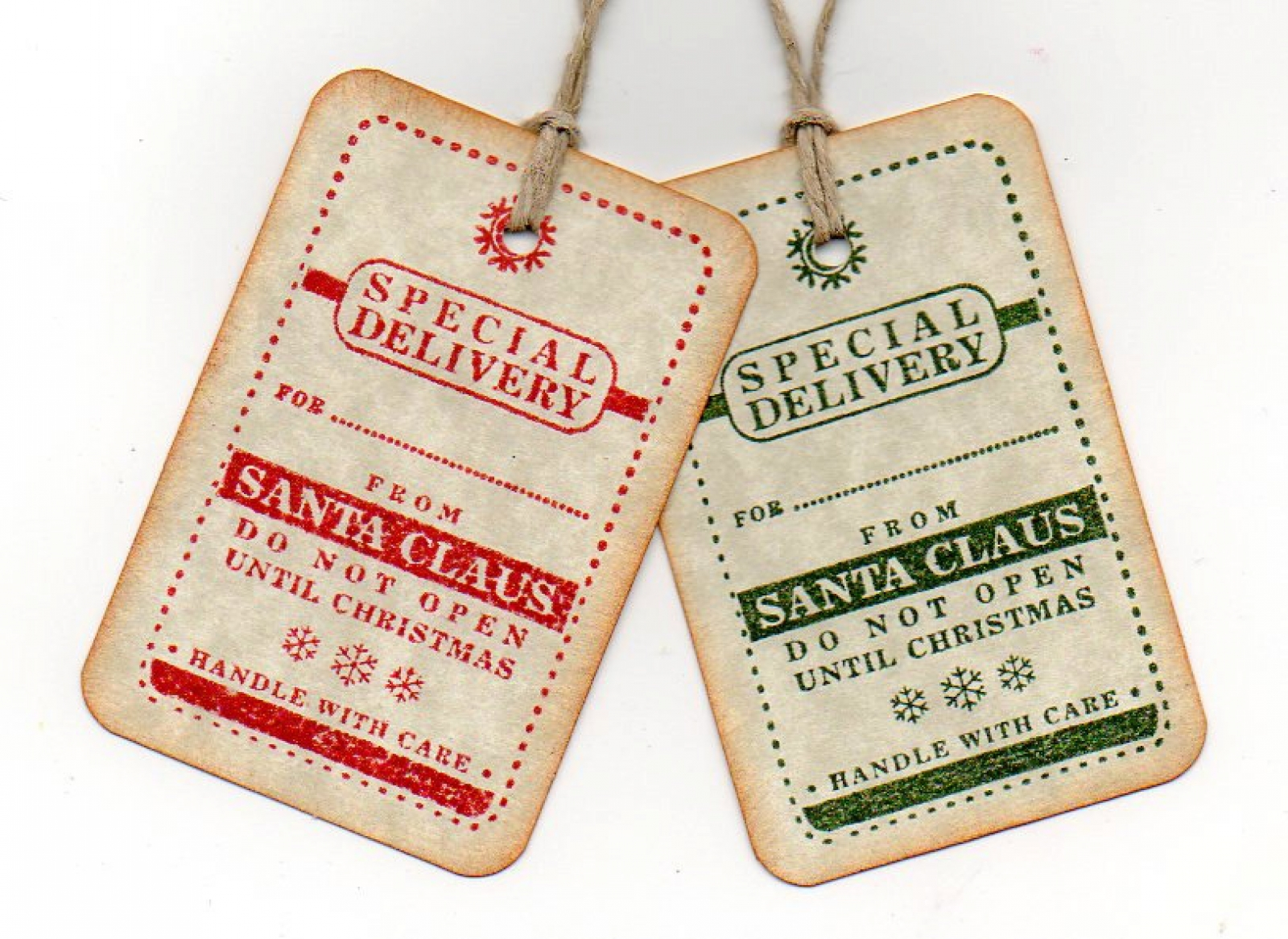 Christmas Gift Tags, Special Delivery From Santa Christmas Tags, Do ...