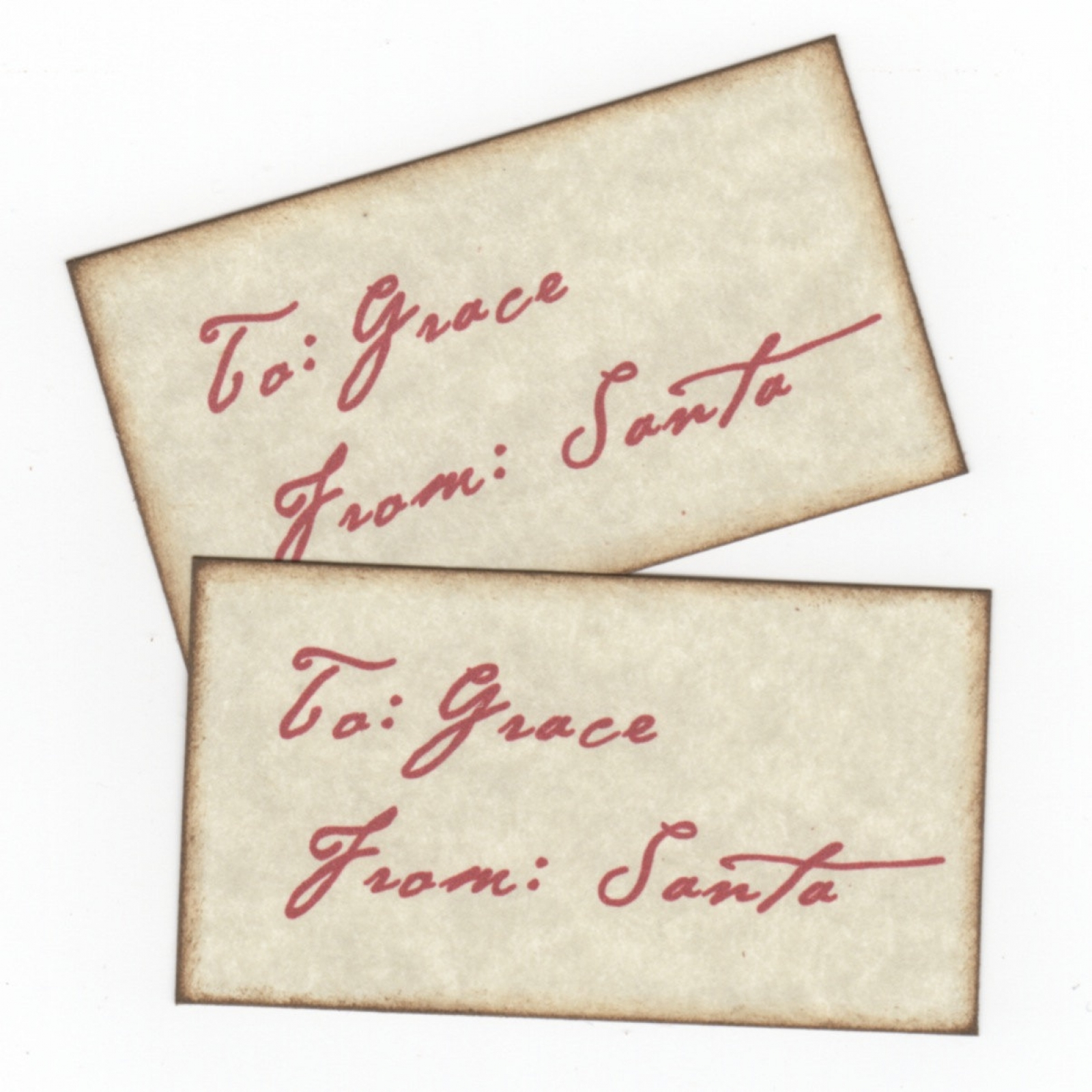 Personalized Christmas Gift Tags From Santa With Santa\'s Signature ...