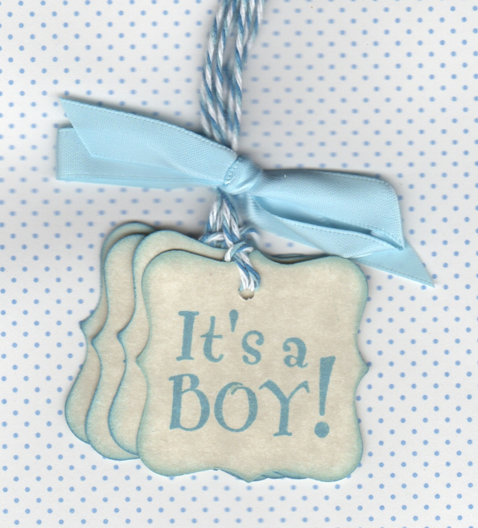20 Baby Shower Favor Tags / It\'s A Boy Baby / Baby Tags / Nail ...