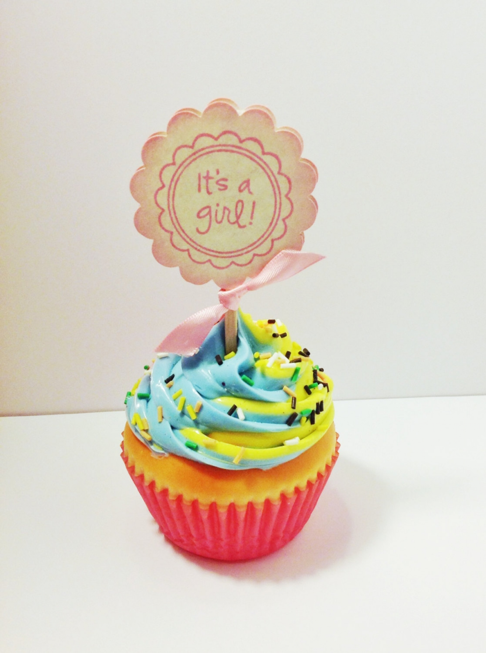 It s A Girl Baby Shower Cupcake Toppers Gender Reveal Party