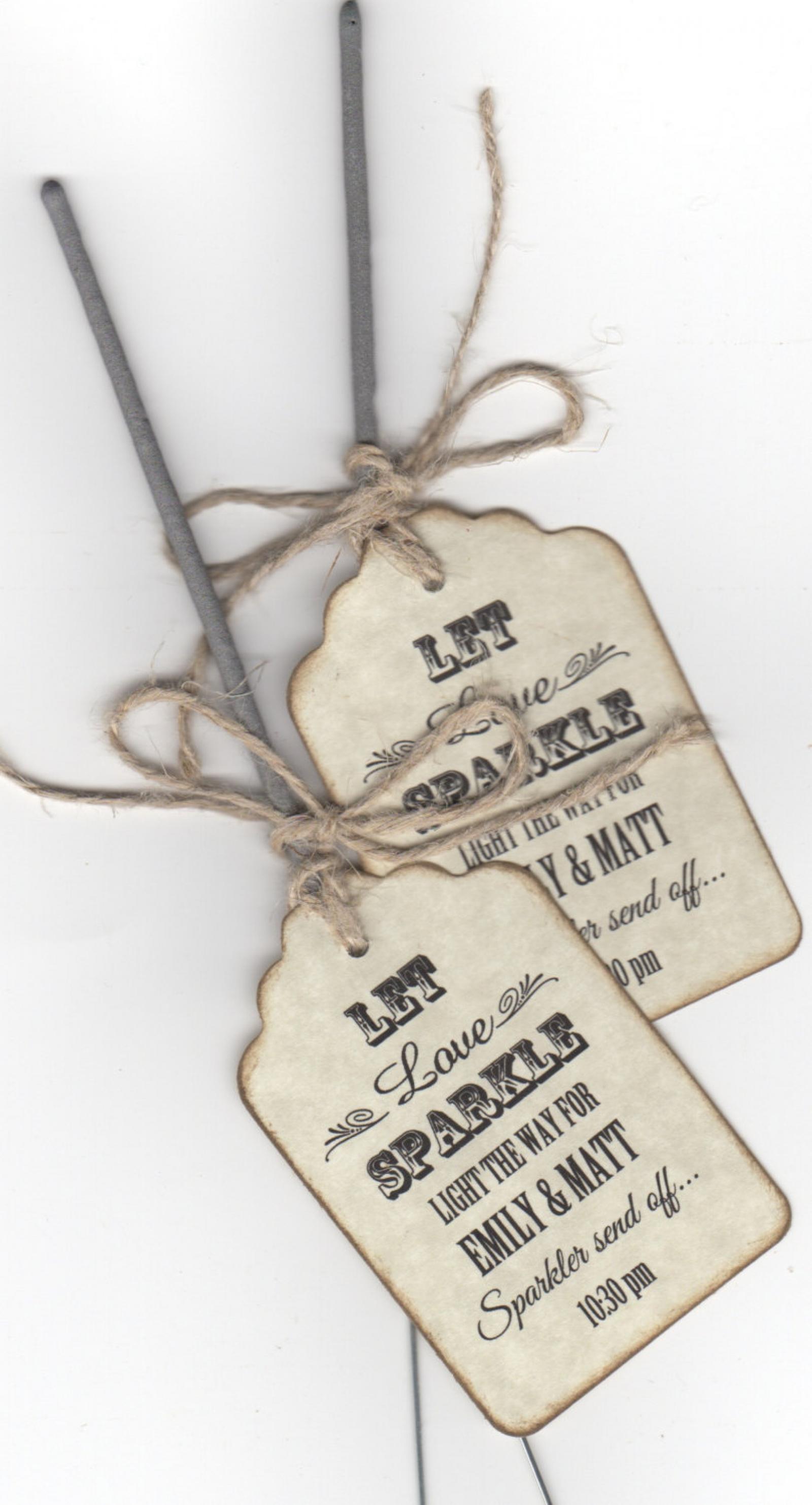50 Sparkler Wedding Favor Tags / Sparkler Send Off Tags / Let Love ...